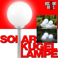 LED SOLAR LEUCHTKUGEL Kugelleuchte Kugellampe Ø25cm WARMWEISS