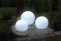 3er-Set LED SOLAR LEUCHTKUGELN Kugelleuchten Lampen SET Ø 20, 25 und 30cm
