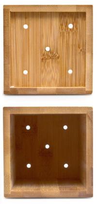 Küchenhelfer KOCHLÖFFEL mit Halter aus Bambus Holz 5er Set