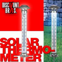 XL Garten THERMOMETER mit Solarleuchte