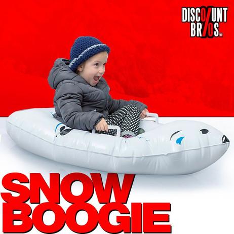 Schneegleiter Eisbär SNOW BOOGIE Bob Schlitten für Kinder aufblasbar  – Bild 1