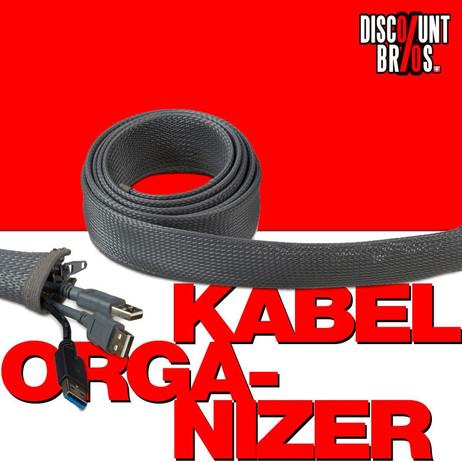 KABEL ORGANIZER Kabelschlauch mit Reissverschluss 2m – Bild 1