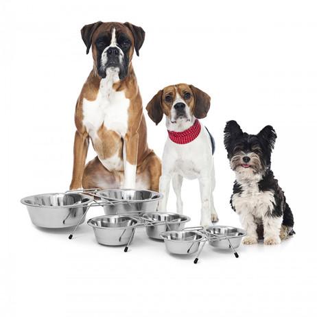Futternapf FRESSNAPF Edelstahl Doppelset für Hunde 2×0,85l – Bild 3