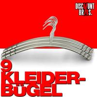 Edelstahl KLEIDERBÜGEL 9er-Set