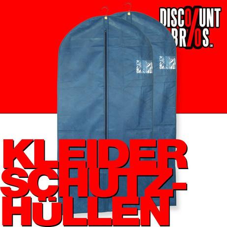 2 Stk. KLEIDERSCHUTZHÜLLEN Kleiderhülle Kleidersack blau 62×135cm – Bild 1