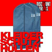 2 Stk. KLEIDERSCHUTZHÜLLEN Kleiderhülle Kleidersack blau 62×135cm