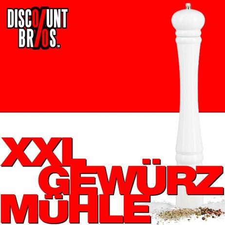 XXL PFEFFERMÜHLE Gewürzmühle Holz Weiss – Bild 1