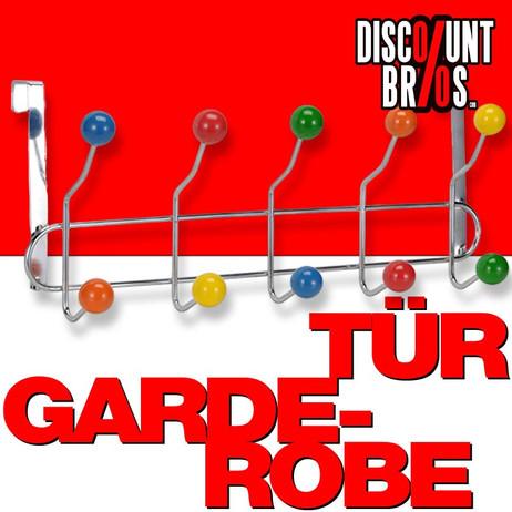 Türgarderobe GARDEROBE mit 10 bunten Türhaken – Bild 1