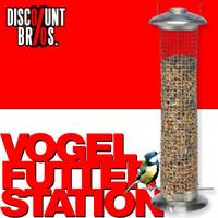 Vogel Futtersilo FUTTERSTATION Futterspender Edelstahl 33cm