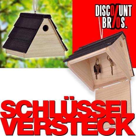 Geheimes SCHLÜSSELVERSTECK Schlüsselkasten Vogelhaus – Bild 1