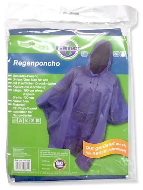 Regenschutz REGENPONCHO mit Kordel Pelerine Regenumhang – Bild 2