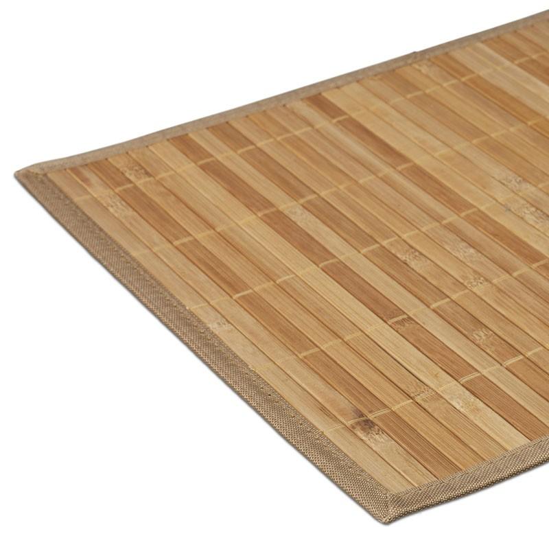 6er Set Bambus Tischset Platzdeckchen 30 45cm Natur Haushalt Kuche