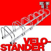 7-er VELOSTÄNDER Fahrradständer für Boden- & Wandmontage