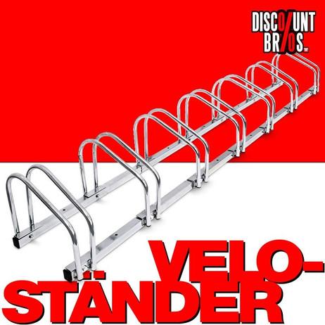8-er VELOSTÄNDER Fahrradständer für Boden- & Wandmontage – Bild 1