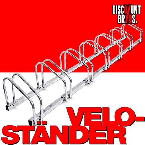 9-er VELOSTÄNDER Fahrradständer für Boden- & Wandmontage – Bild 1