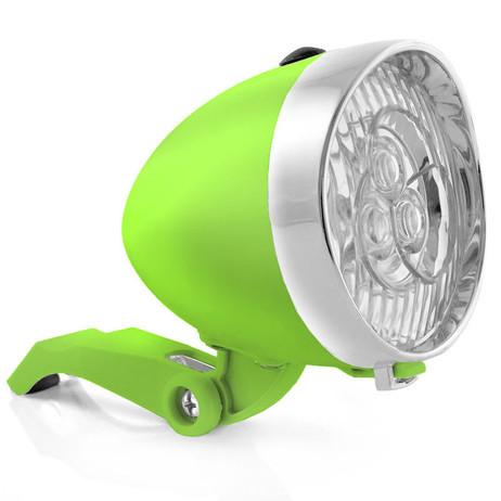 Retro-Design VELOLICHT mit 3 LED Fahrrad Velolampe Scheinwerfer Frontscheinwerfer SCHWARZ – Bild 6