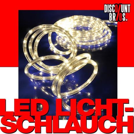 Warmweiss leuchtender LED LICHTSCHLAUCH für den Aussenbereich 6m – Bild 1
