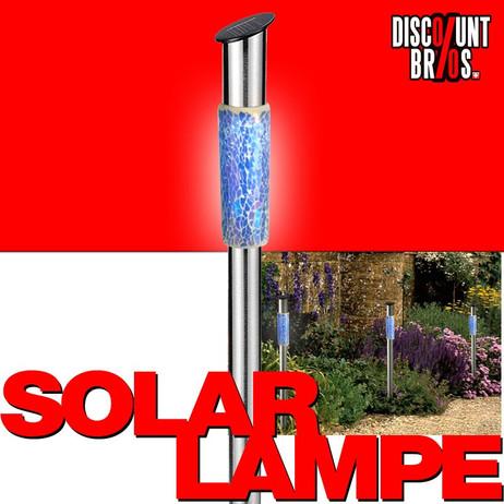 LED SOLAR LAMPE aus Edelstahl MOSAIK 62cm – Bild 1