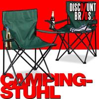 2er-Set Campingstuhl Klappstuhl FALTSTUHL mit Getränkehalter & Tasche GRÜN