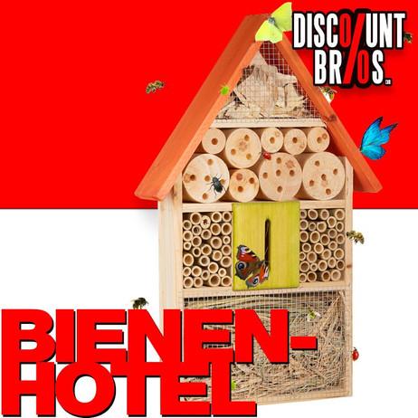 Insektenhotel XL BIENENHOTEL Holz ORANGE 48,5×31×7cm – Bild 1