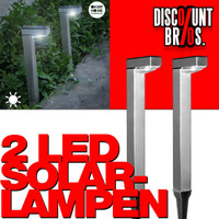2 × LED SOLAR LAMPEN Oh My Home Hammy 2er Pack