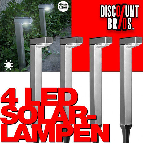 4 × LED SOLAR LAMPEN Oh My Home Hammy  – Bild 1