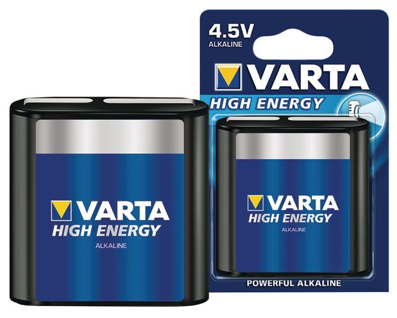 VARTA 4912 High Energy Alkaline Flachbatterie 3LR12A 4,5V
