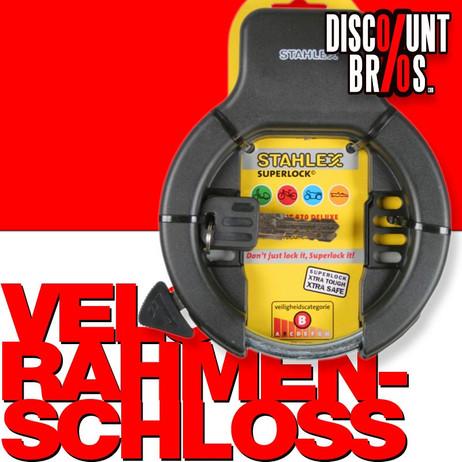 Veloschloss RAHMEN-SCHLOSS STAHLEX 470 Ringschloss Fahrradschloss deluxe SCHWARZ – Bild 1