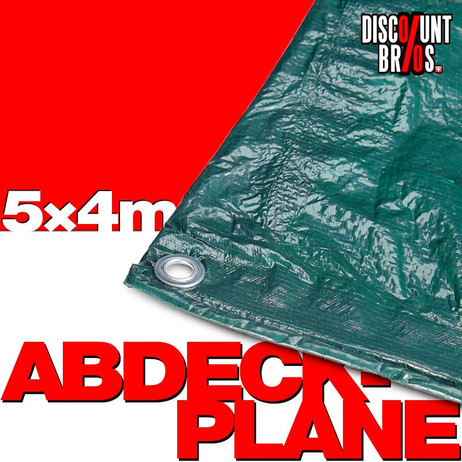 60g/m² Gewebeplane ABDECKPLANE Blache Plane mit Ösen GRÜN 5×4m