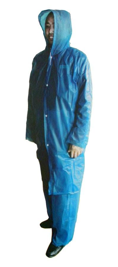 Notfall Regenschutz REGENANZUG Regenjacke + Hose Einweg – Bild 2