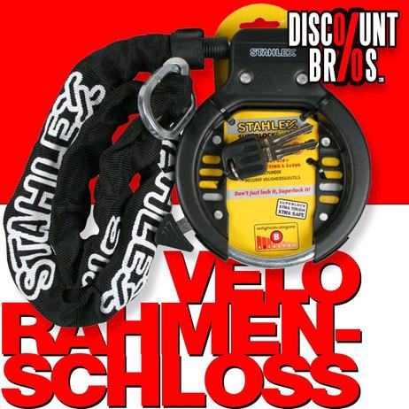 Veloschloss RAHMEN-SCHLOSS STAHLEX 470 Ringschloss Fahrradschloss + Kettenschloss – Bild 1