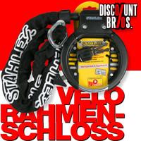 Veloschloss RAHMEN-SCHLOSS STAHLEX 470 Ringschloss Fahrradschloss + Kettenschloss