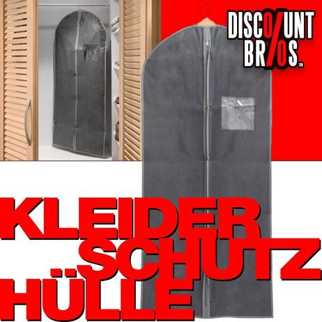 Kleiderhülle KLEIDERSCHUTZHÜLLE Kleidersack GRAU 60×135cm – Bild 1