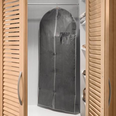 Kleiderhülle KLEIDERSCHUTZHÜLLE Kleidersack GRAU 60×135cm – Bild 3
