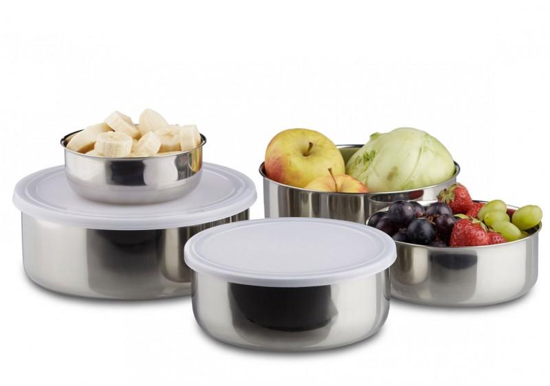 Schüssel Set Abtropfsieb Edelstahlschüssel Frischhaltedose Küchenhelfer Schüssel