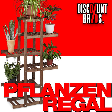 Blumenregal PFLANZENREGAL Blumentreppe aus Holz DUNKELBRAUN – Bild 1
