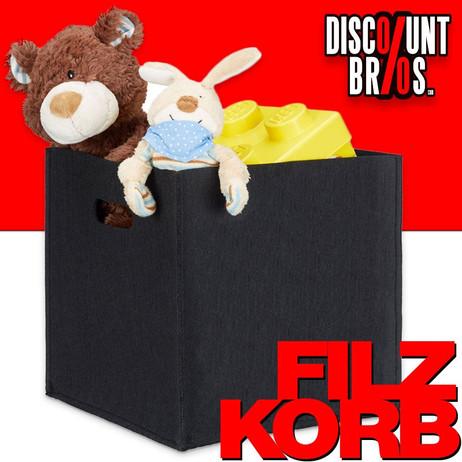 Quadratischer Filzkorb KORB Aufbewahrungsbox aus Filz 30×30×30cm – Bild 1