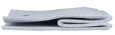 Quadratischer Filzkorb KORB Aufbewahrungsbox aus Filz 30×30×30cm GRAU – Bild 8
