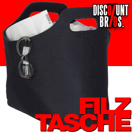 Tragetasche FILZTASCHE Tasche Aufbewahrungstasche aus Filz SCHWARZ – Bild 1