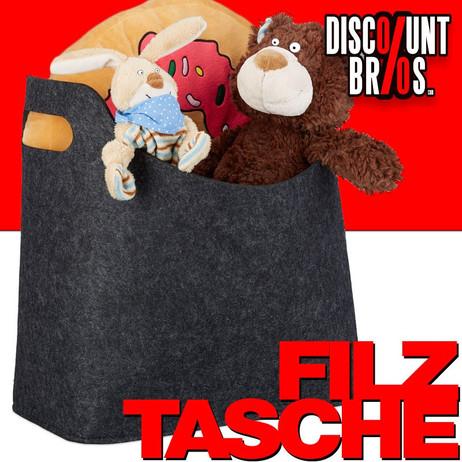Tragetasche FILZTASCHE Tasche Aufbewahrungstasche aus Filz DUNKELGRAU – Bild 1