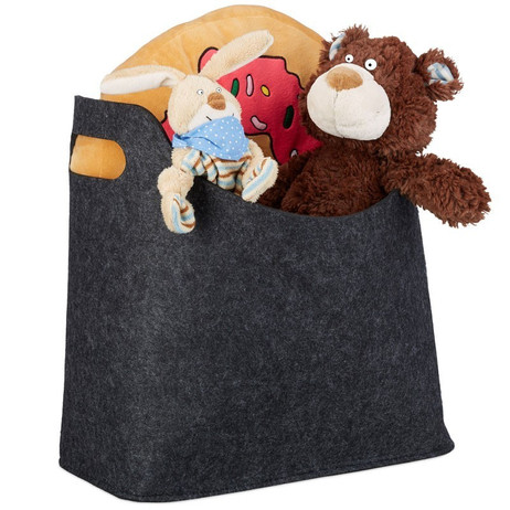 Tragetasche FILZTASCHE Tasche Aufbewahrungstasche aus Filz GRAU – Bild 5