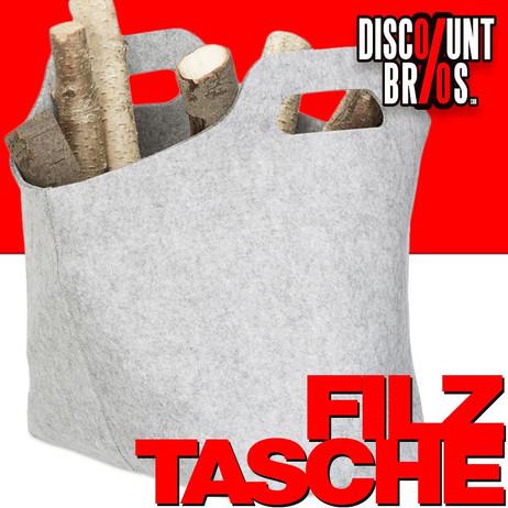 Tragetasche FILZTASCHE Tasche Aufbewahrungstasche aus Filz GRAU – Bild 1