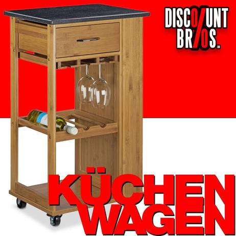 Haushaltswagen KÜCHENTROLLEY Küchenwagen mit Marmorplatte ALFRED L – Bild 1