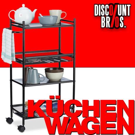 Haushaltswagen KÜCHENTROLLEY Servierwagen Küchenwagen Beistelltisch Allzweckwagen Rollregal – Bild 1