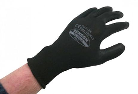Arbeitshandschuhe PU Flex HANDSCHUHE Riggerhandschuhe SCHWARZ Gr. 10 XL – Bild 2