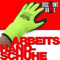 Arbeitshandschuhe HANDSCHUHE Latex beschichtet Riggerhandschuhe GRÜN Gr. 10 XL 001