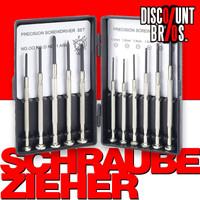Präzisions SCHRAUBENZIEHER-SET Schraubendreher UHR 11-teilig