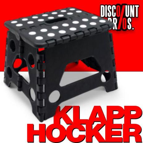 Klappbarer Hocker KLAPPTRITT Klapphocker SCHWARZ – Bild 1