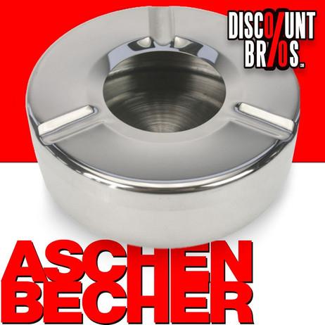 ASCHENBECHER Edelstahl Aschenbecher Ø11cm – Bild 1