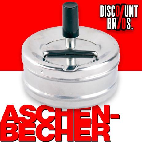 DREH-ASCHENBECHER verchromter Aschenbecher 9cm – Bild 1